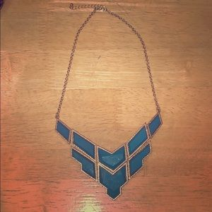 Jewelry - *3 for $11* Turquoise and Gold Statement Necklace